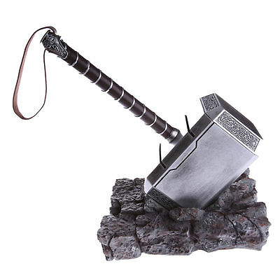 US Ship The Avengers 1:1 Thor Hammer Replica Resin Stand Base Cosplay Props Gift