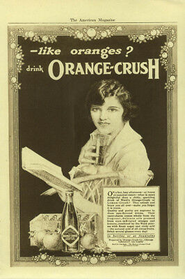On a hot lazy afternoon Drink Orange-Crush in bottles or at fountains ad 1920