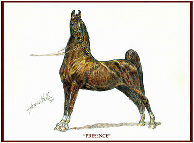 """SADDLEBRED HORSE NOTE CARDS """"PRESENCE"""" by JAMES WALLS"""