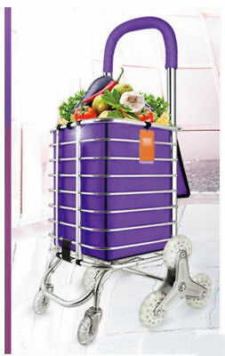 A67 Rugged Aluminium Luggage Trolley Hand Truck Folding Foldable Shopping Cart