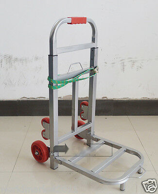 New Convenient Simple Portable Silver Collapsible Shopping Luggage Trolleys E
