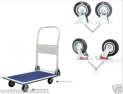 New Convenient Simple Four Wheels Collapsible Shopping Hand Trolleys