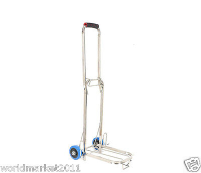 Stainless Steel Two Wheels Convenient Collapsible Shopping Luggage Trolleys S