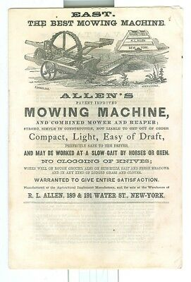 1858 Allen's Improved Mowing Machine