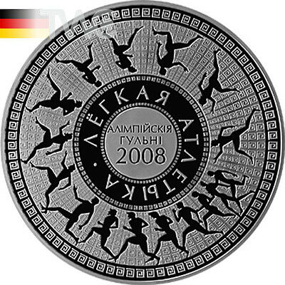 Belarus 2006 20 rubles 2008 Olympic Games Track and Field Athletics Proof Silver