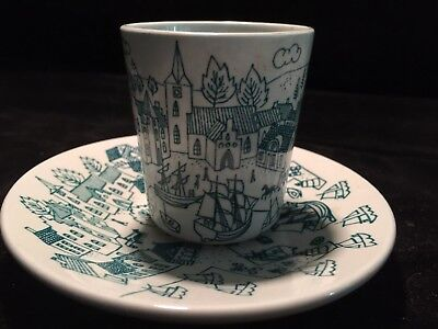 Vintage Nymolle Art Faience Hoyrup Cup & Plate Limited Edition #4006 Denmark