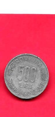 Romania Km145 Vf-Very Fine-Nice Large 2000 500 Lei Aluminum Circulated Coin