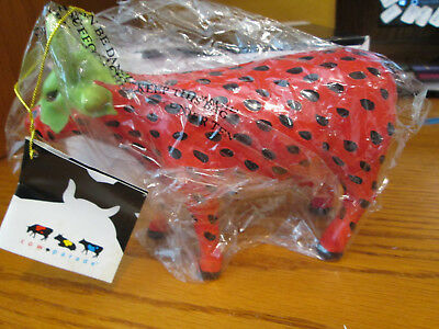 Cow Parade Figurine, Strawberry Cow # 7338 Excellent