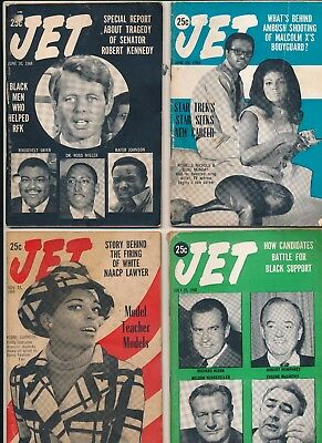 LOT (10) Jet Magazines 1960s no mailing labels NICHELLE NICHOLS STAR TREK