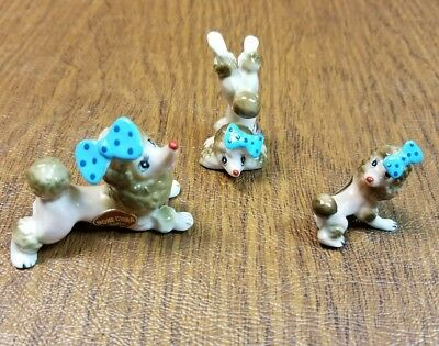 Vintage Bone China Poodle Figurines