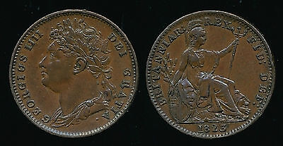 1823 George IV FARTHING....Roman I in Date - RARE...Fast Post