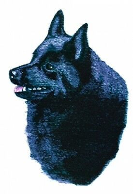 Large Embroidered Zippered Tote - Schipperke BT4541