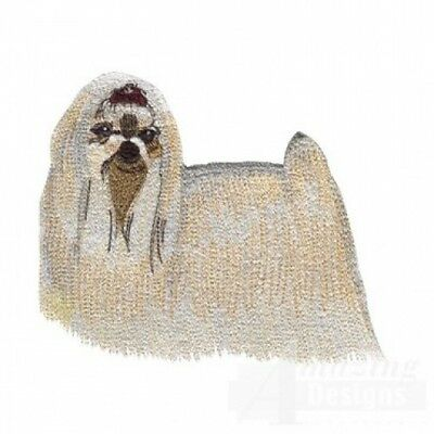 Large Embroidered Zippered Tote - Maltese AD014