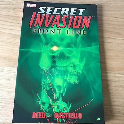 Secret Invasion Front Line | Marvel Graphic Novel Paperback | Reed Castiello