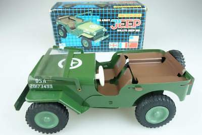 Gama Willys Jeep MB US Army grün green friction military + Box ca. 1:20 104739