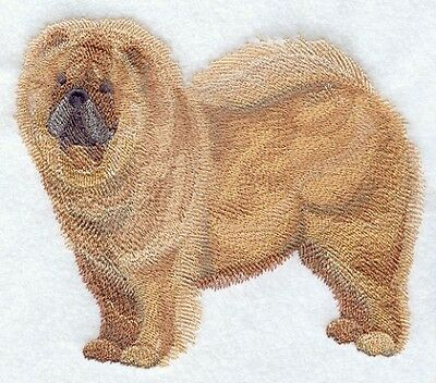 Large Embroidered Zippered Tote - Chow Chow C9649
