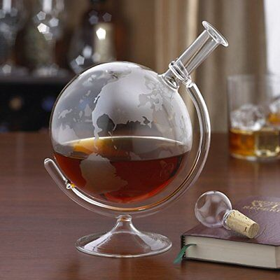 Vintage 700ml Globe Glass Wine Decanter Carafe Whisky Decanter Christmas Gift