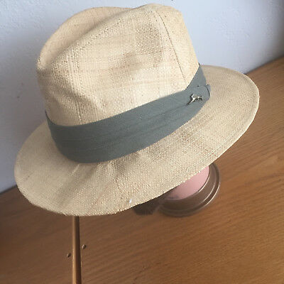 TOMMY BAHAMA SHADE Maker Panama Hat Metal Swordfish Charm on Band 21 ... 54c7569ac15