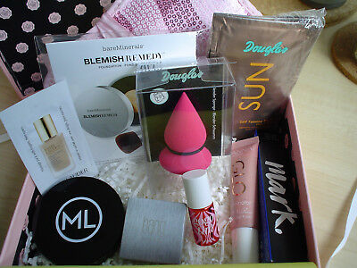 Beautypaket - 10 Teile - Glossybox - Douglas - Youstar - Bareminerals -