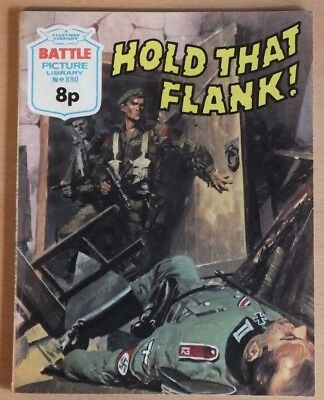 "BATTLE Picture Library # 890 ""Hold that flank"" 1975 war comic VG / Excellent."