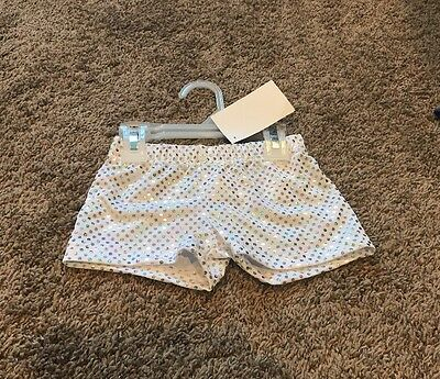 Girls 10 Cheerleader Dance Gymnastics Sparkly Booty Bar Bike Shorts NWT!