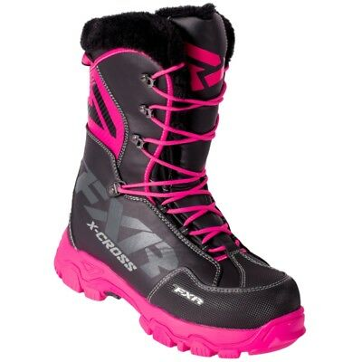 FXR Women's X Cross Lace Up Fixed Liner Boot - Black Fuchsia - 180705-1090-__