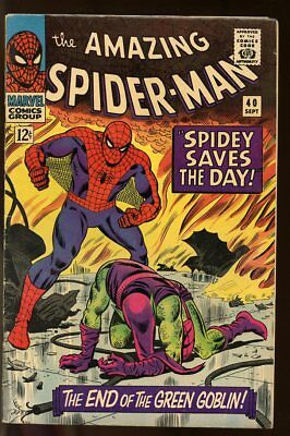 Amazing Spider-Man #40 Very Good Green Goblin 1966 Marvel Comics