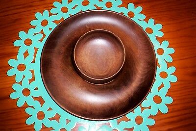 Vintage Woodbury Woodware Serving Tray, Bowl, Vermont Mid Century