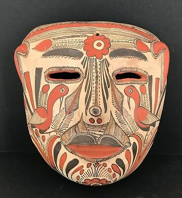 Antique Clay Mask From State of Guerrero, Mexico