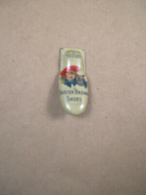 Antique Tin Litho Advertising Toy Clicker BUSTER BROWN SHOES