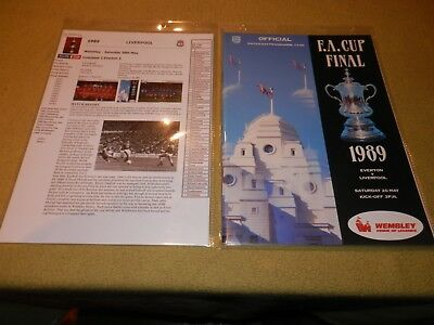 Presentation File of Everton v Liverpool in 1989 FA Cup Final at Wembley
