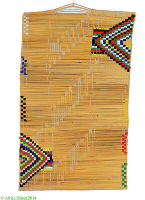 Zulu Mat Icansi with Embroidery South African Art