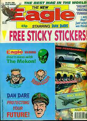 THE NEW EAGLE British comic book May 5, 1990 (sticker sheet still attached) VG+