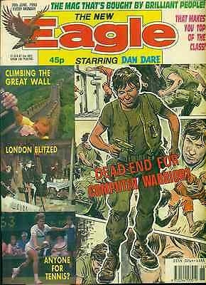 THE NEW EAGLE weekly British comic book June 30, 1990 VG+
