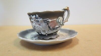 mini or demi dragon ware cup and saucer, Japan, circa 1920