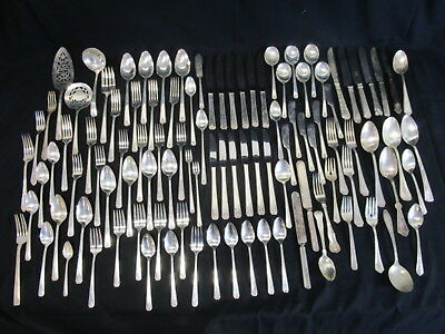 10 Lbs Vintage Silver Plated Flatware Lot (690)