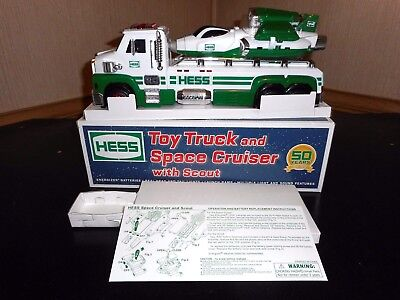 2014 Hess Toy Truck And Space Cruiser With Scout  Mint Pre-Owned