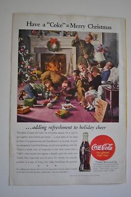 "Vintage Coca Cola Advertising Have  a ""Coke"" = Merry Christmas 1944"