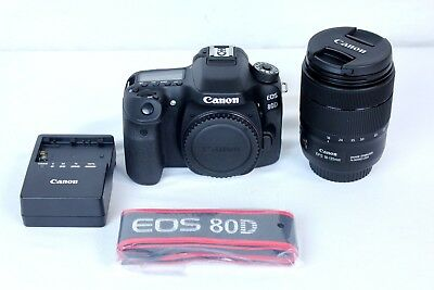 Canon EOS 80D Digital SLR Camera w/118-135mm 1:3.5-5.6 IS USM