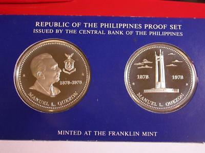 1978 Philippines Proof Set 50 and 25 Piso Sterling Silver ID#k665