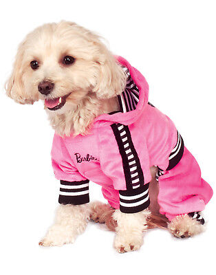 Barbie Sporty Girl Pet Pink Track Suit Dog Cat Halloween Costume