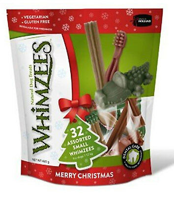Whimzees Christmas Variety Pack 3 Sizes Festive Xmas Dog Chews