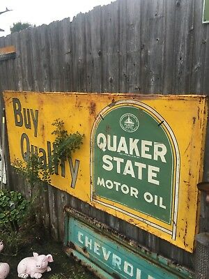 Quaker State Motor Oil Sign
