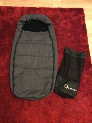Quinny Cositoes/footmuff/sleeping Bag In Anthracite Grey With Carry Bag.