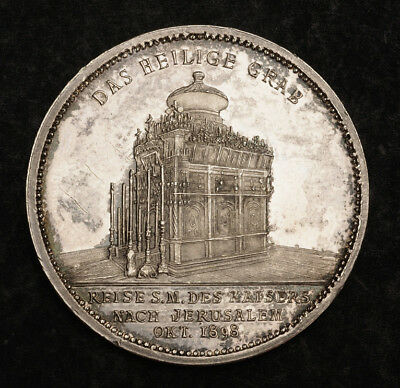 """1898, Israel/Germany. Commemorative Proof Silver """"Visit to Jerusalem"""" Coin."""