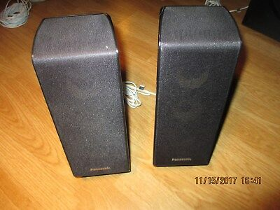 Panasonic Home Theater Surround Sound Two Speakers SB-HF100 w/ wire