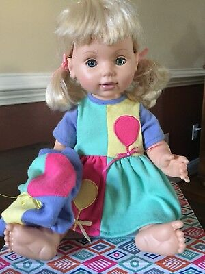 Rare Playmate Baby So Beautiful Blond 1 Blue and 1 Green eye Flaw Doll 1995