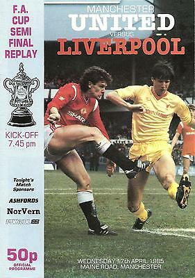 Manchester United v Liverpool - FA Cup Semi-Final Replay - 1984/85