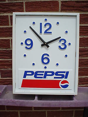 Vintage Pepsi ADVERTISEMENT Clock wall hanger EXTRA NICE..