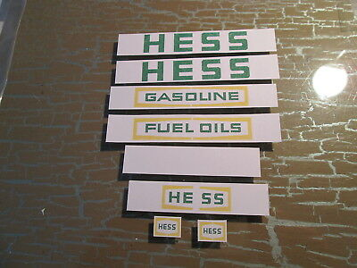 Sticker Set For 1975 1976 Hess Tanker Truck